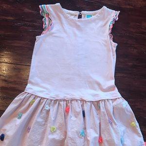 Mini Boden dress pale pink size 7/8